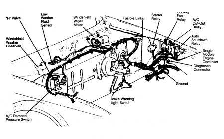 91 plymouth acclaim Motordiagramm