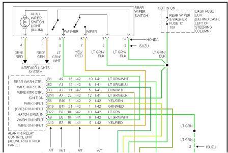 Isuzu Rodeo Rear Wiper Wiring Diagram Wiring Schematic Diagram