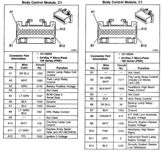 bcm wiring diagram for chevy impala