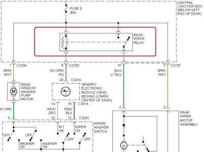 02 Ford Escape Wiper Wiring - Wiring Data Diagram