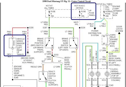 1998 Ford Mustang Wiring Diagrams Wiring Schematic Diagram