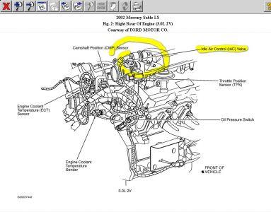 2000 mercury sable v6 3 0 engine diagram