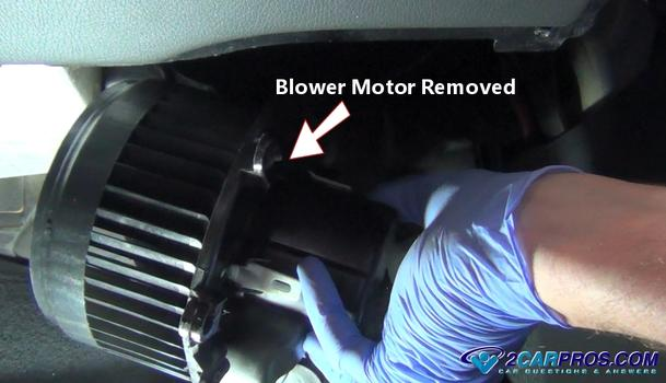 Service Manual Steps For A Blower Motor Removal On A 2008