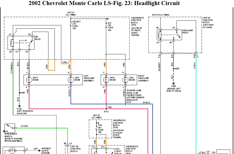 2001 Monte Carlo Headlight Wiring Diagram - Miidzcbneutescomobile