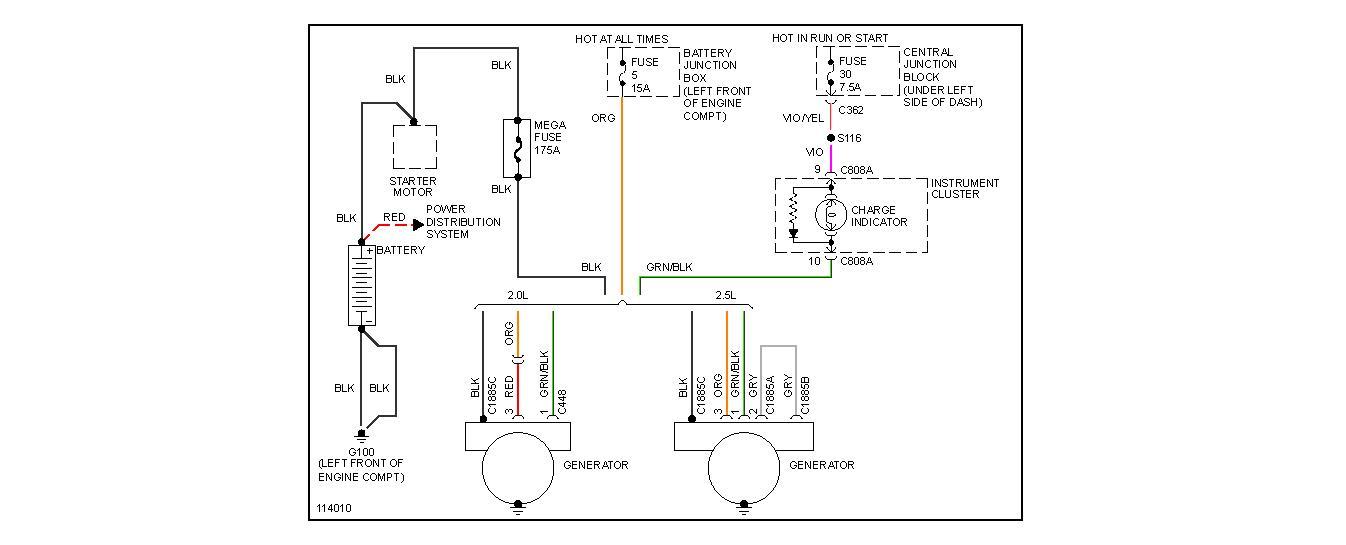 99 mercury mystique fuse box diagram