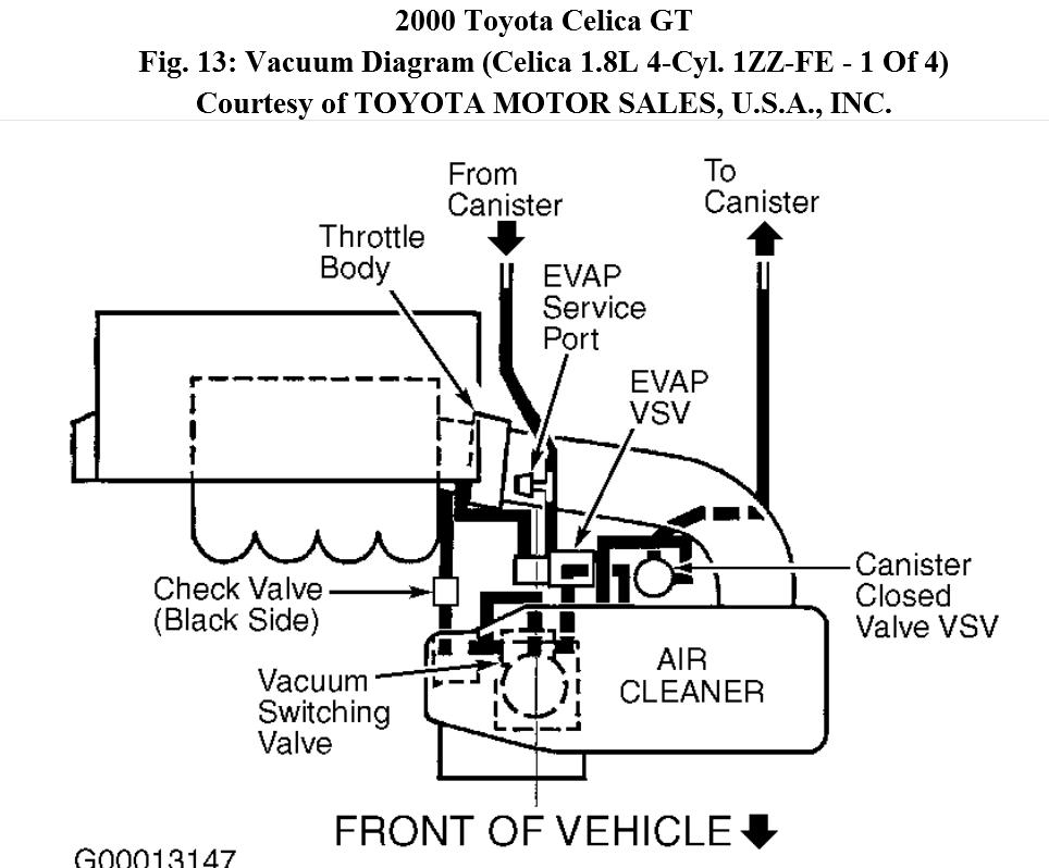 celica engine diagram