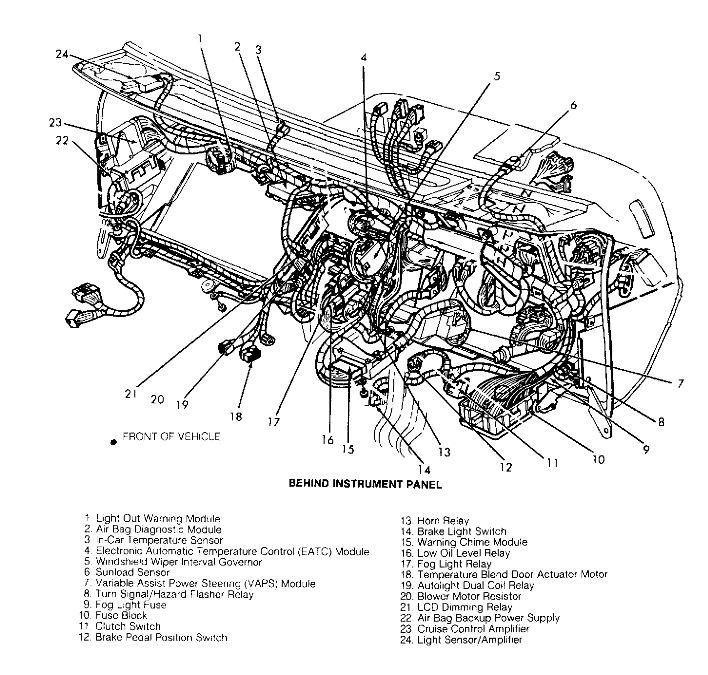 1993 ford taurus gl fuse box diagram