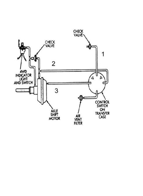 chevy 4wd actuator valve wiring diagram