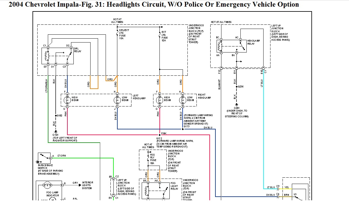 00 Impala Headlight Wiring Diagram Schematic Download Wiring Diagram