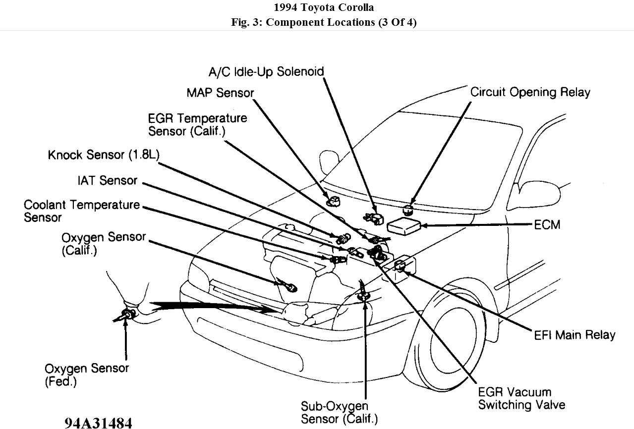 1994 toyota corolla engine diagram