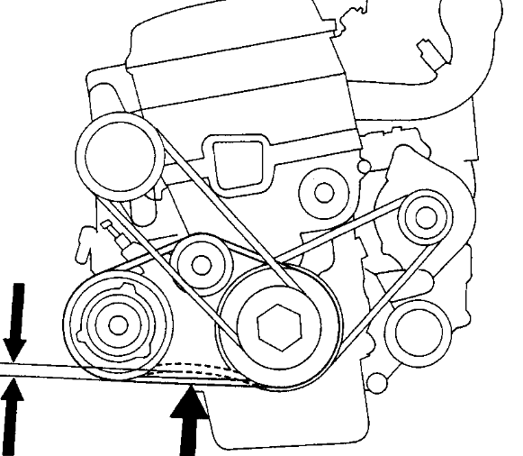 pontiac 3 4 Motor diagram tensioner