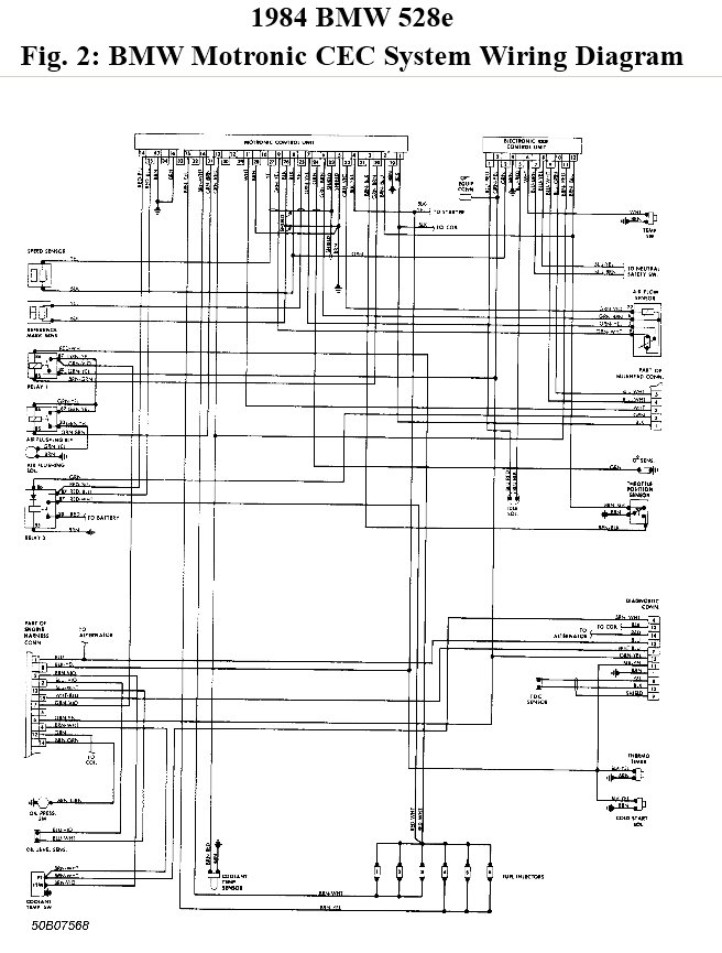 1984 bmw 528e wiring diagram