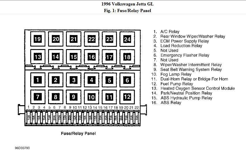 1996 Volkswagen Wiring Diagram Wiring Diagram