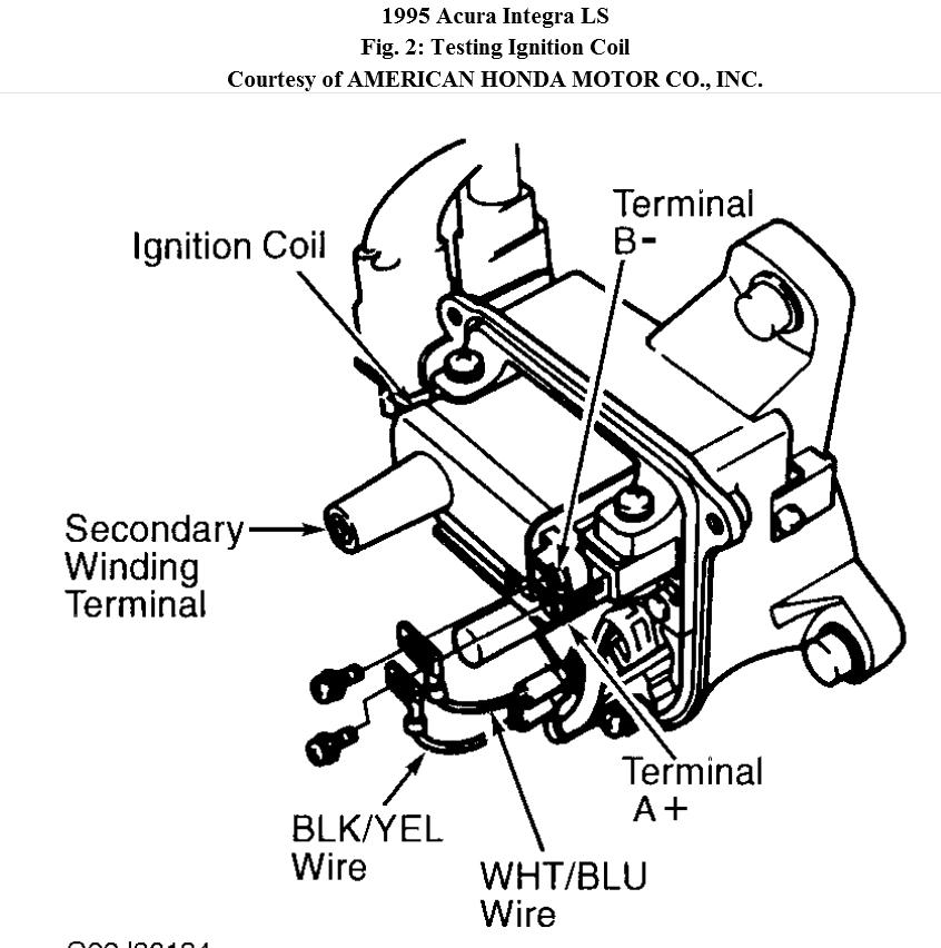 ignition coil and pick up coil testing questions