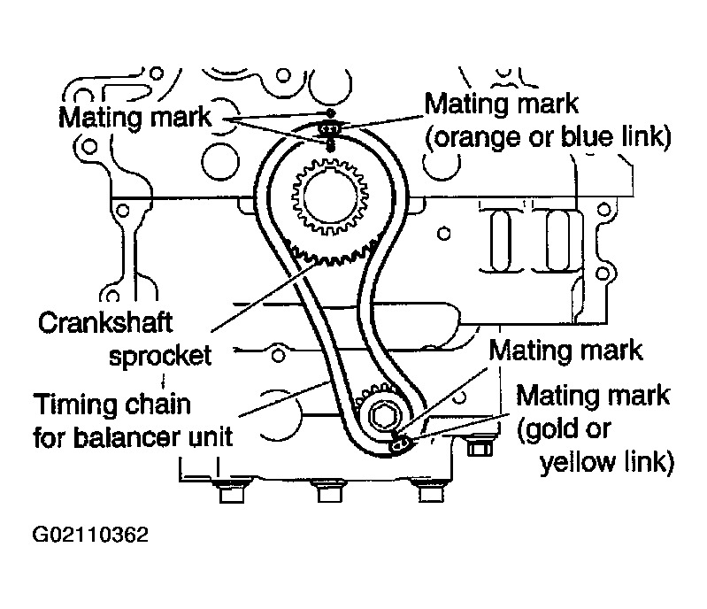 25 Engine Timing Chain Marks Hello 2carpros, I Am Wondering