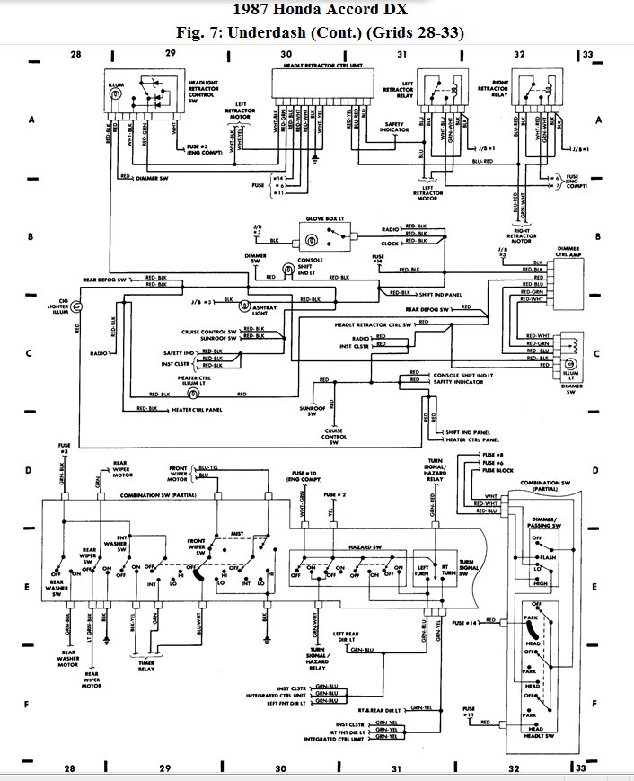 honda accord 1987 wiring diagram