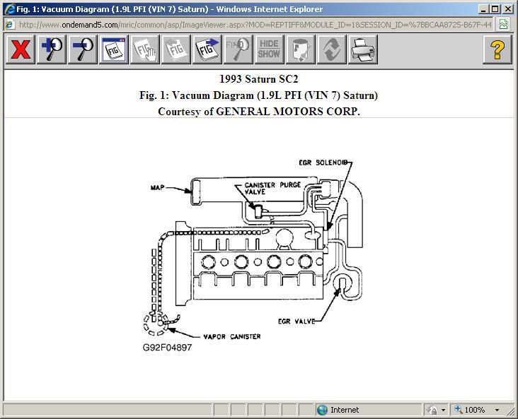 2002 Saturn Vacuum Hose Diagram Also 1998 Saturn Sl2 Motor Mounts