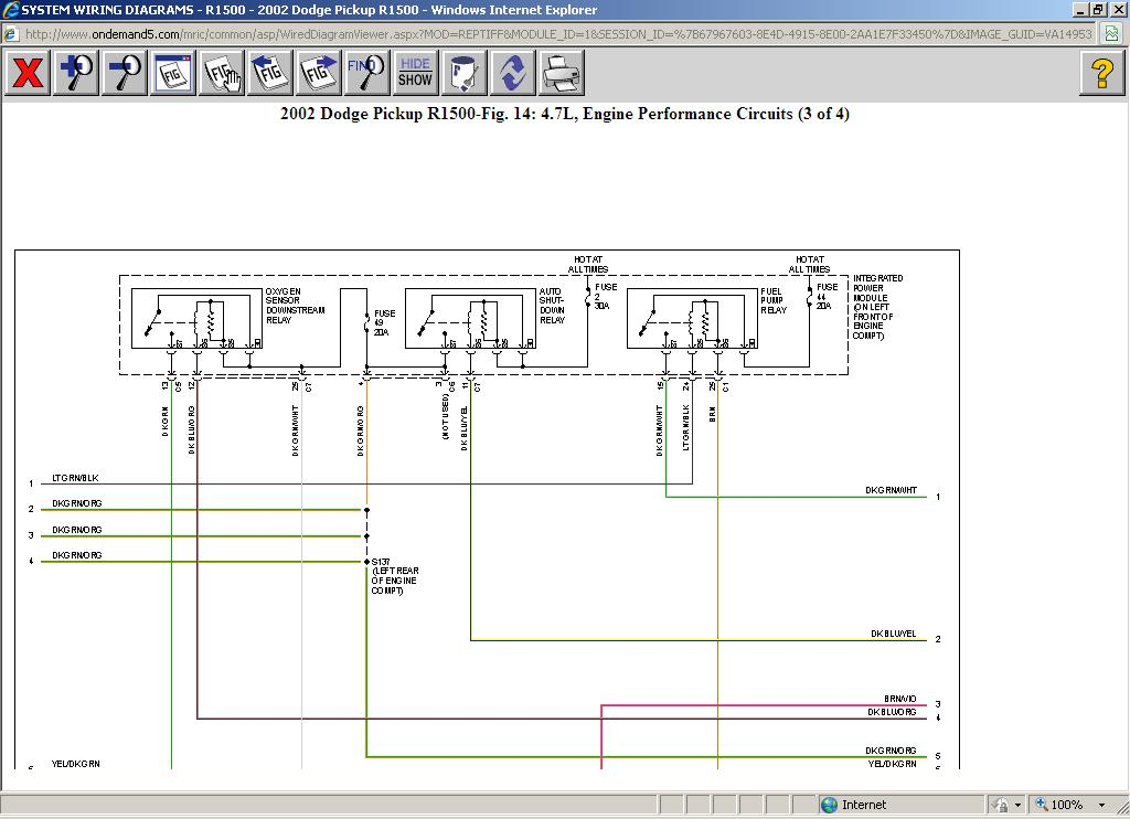 Fuel Pump Wiring Diagram V8 Two Wheel Drive Automatic 167000