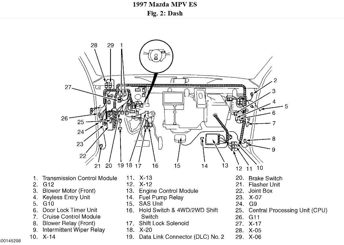 1997 mazda mpv wiring diagram manual original