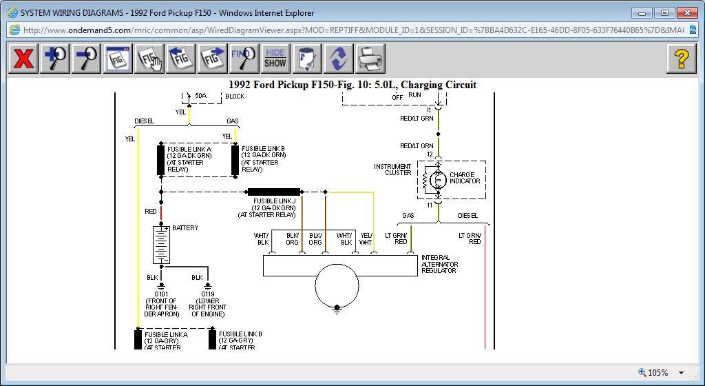 ford l8000 alternator wiring