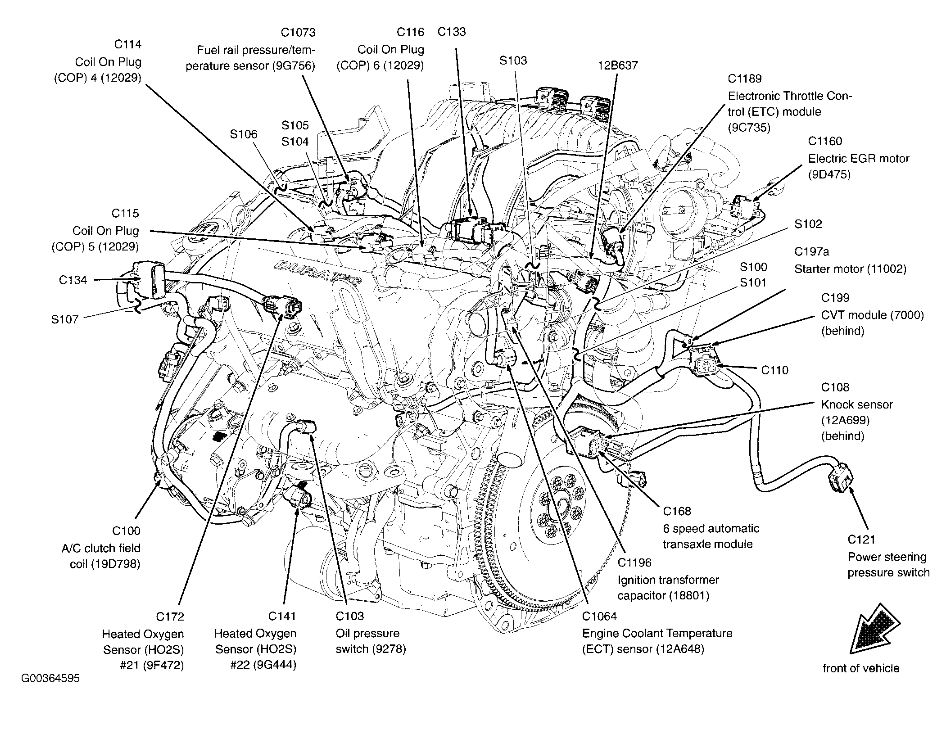 Where the ECT Is Locater in Ford 500 30 2005