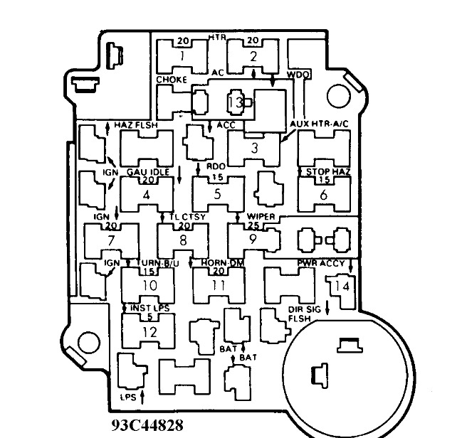 1992 chevy 1500 fuse box diagram