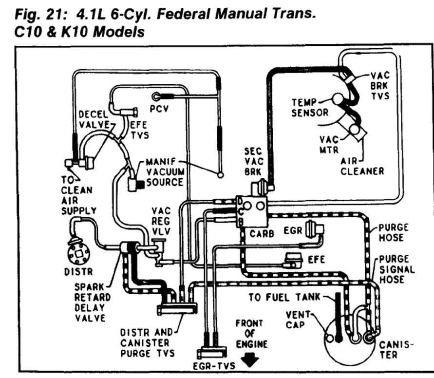 chevy 250 vacuum diagram