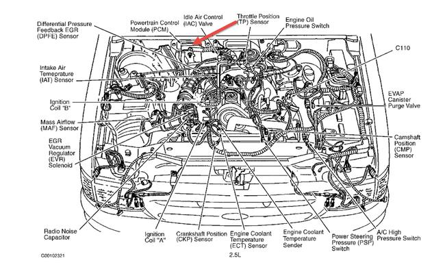 2001 Ford Ranger 2 3 Liter Engine Photos And Diagram Wiring