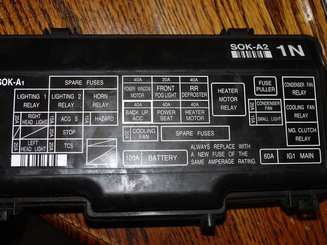 2003 Acura Tl Fuse Box Wiring Diagram