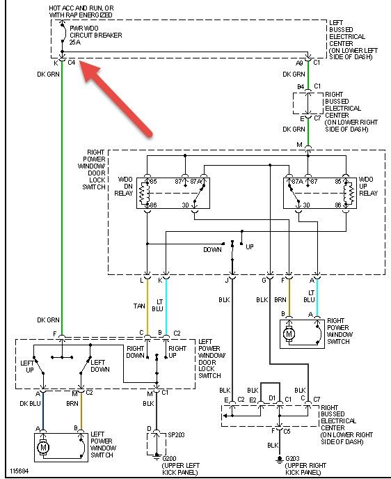 2002 suburban power window wiring diagram