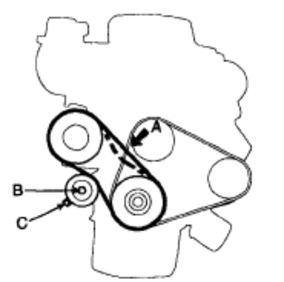 service manual how to replace 2013 kia rio steering belt