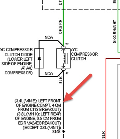 2004 Chevrolet Impala AC Compressor Wiring Harness Wires Broke