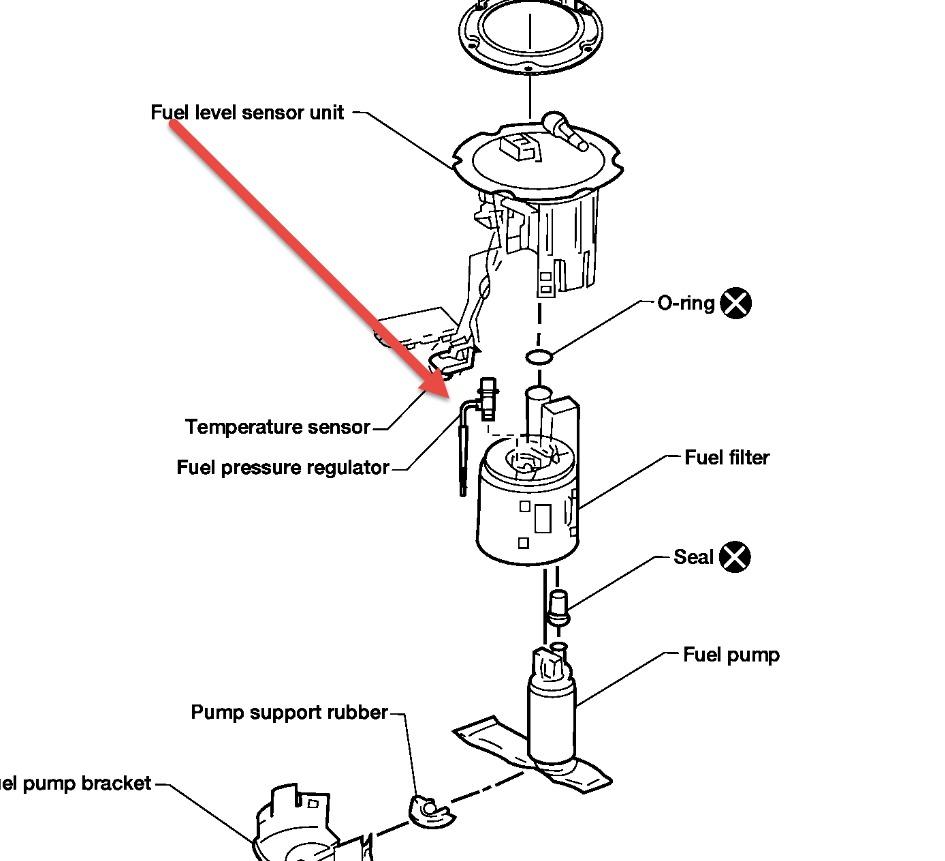 2009 nissan sentra fuel filter location