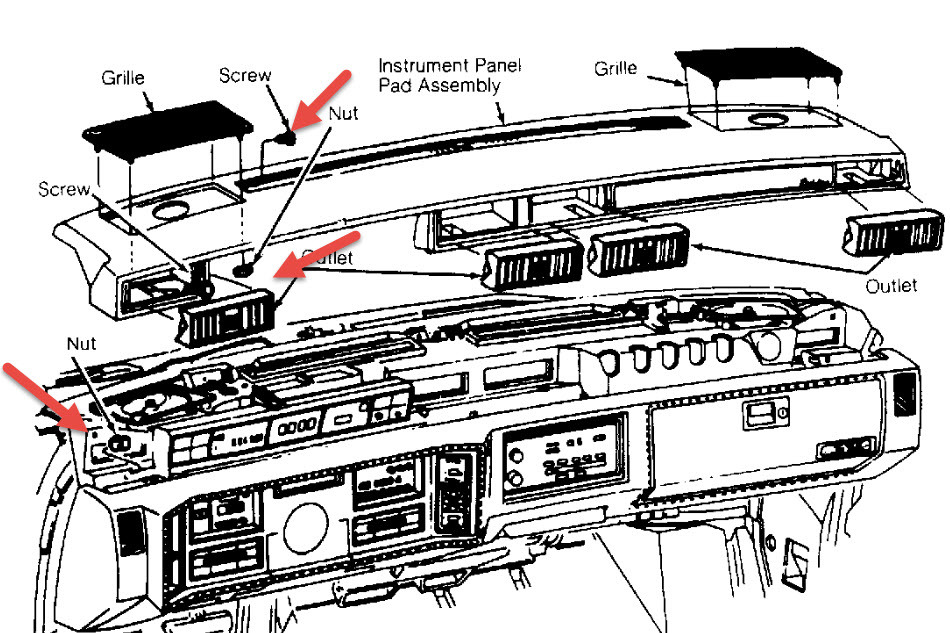 service manual how to remove cluster in a 2002 cadillac