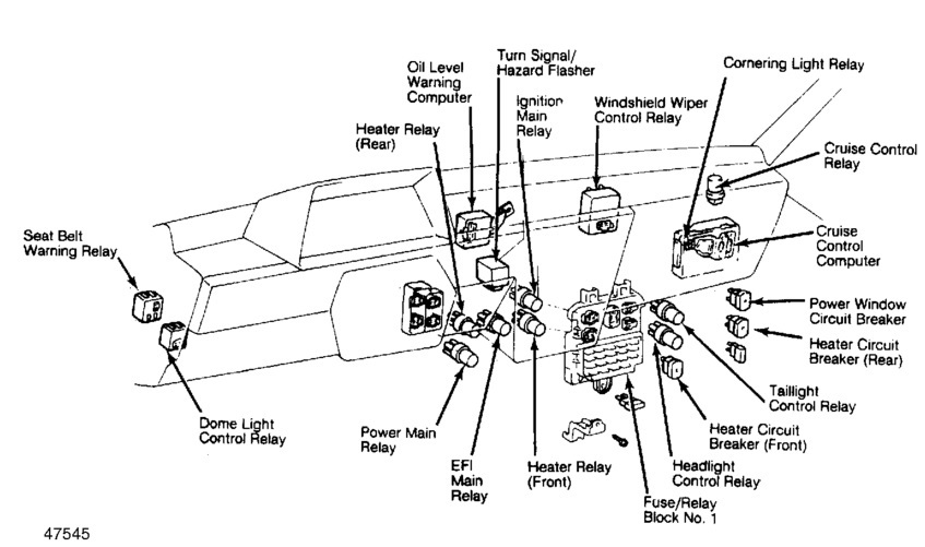 fuse box diagram toyota yaris
