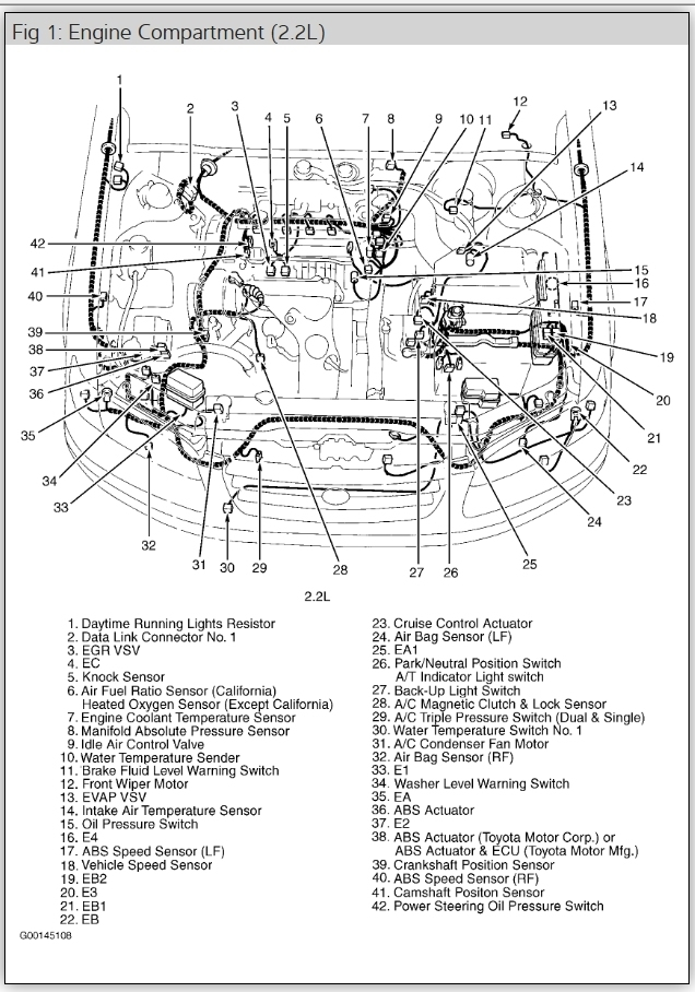 2001 toyota v6 engine diagram