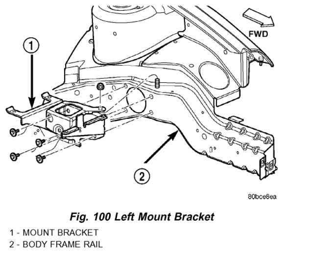 dodge neon engine mount replacement