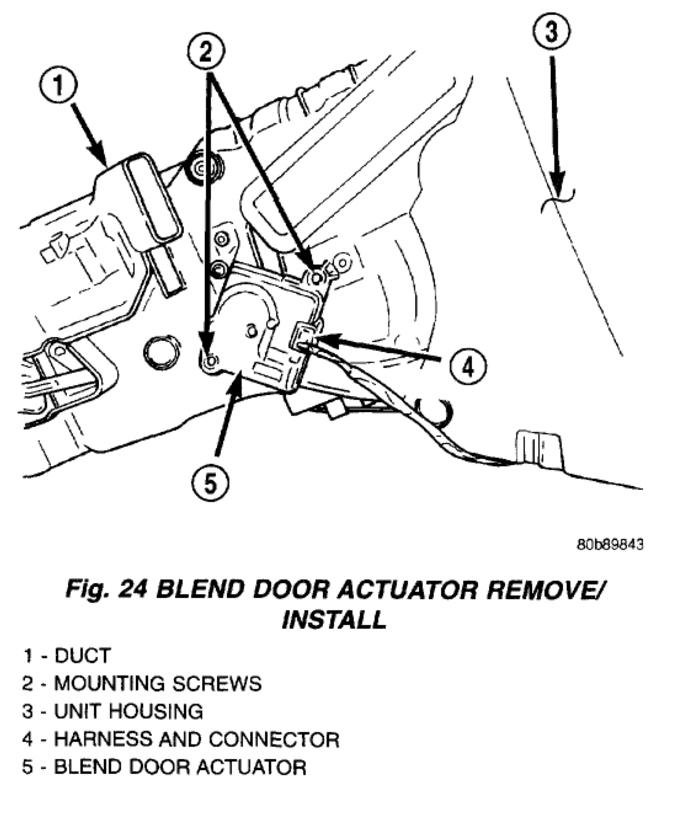 dodge blend door actuator wire diagram