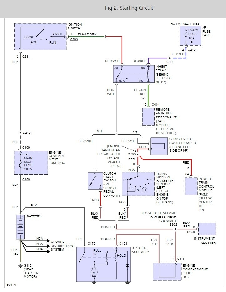 1997 Ford Escort Starter Relay Location Where Is Starter Relay