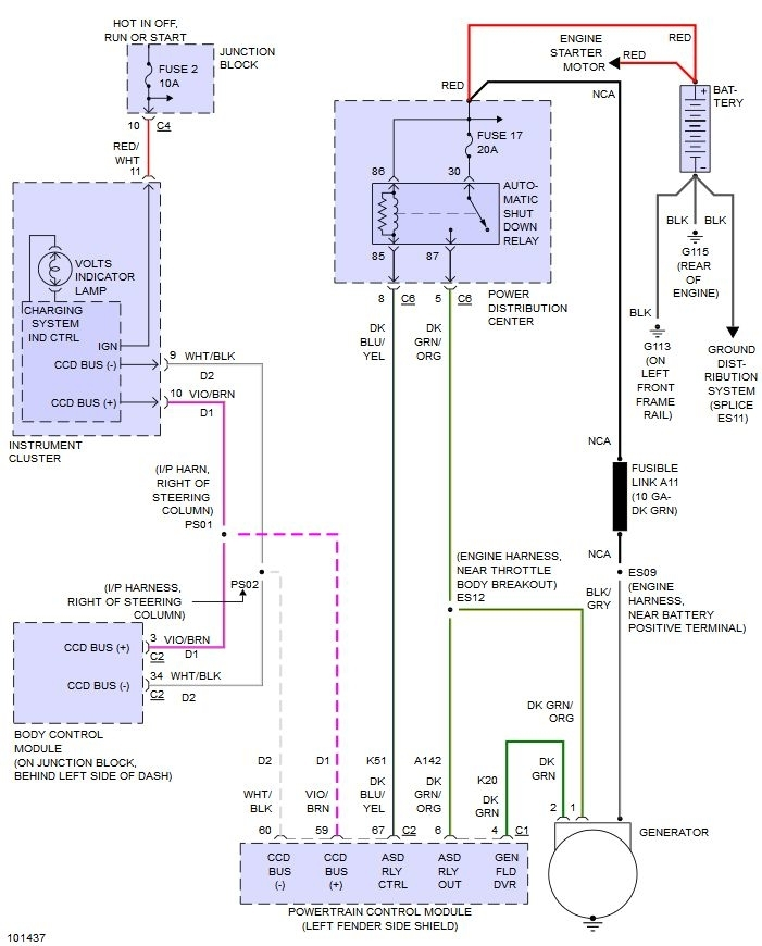 Alternator to Battery Fusible Link Location Needed