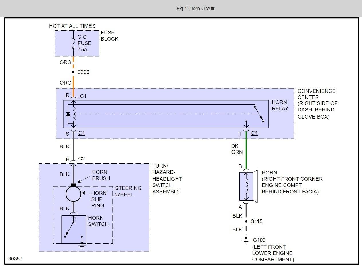 air horn button wiring diagram to original