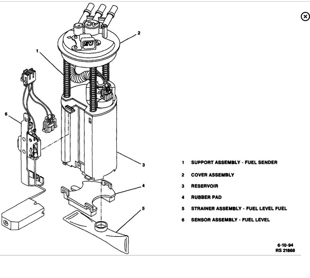 cadillac fuel pump bedradings schema