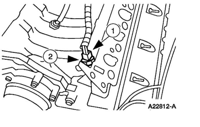 Location of the Coolant Temperature Sensor Engine Mechanical