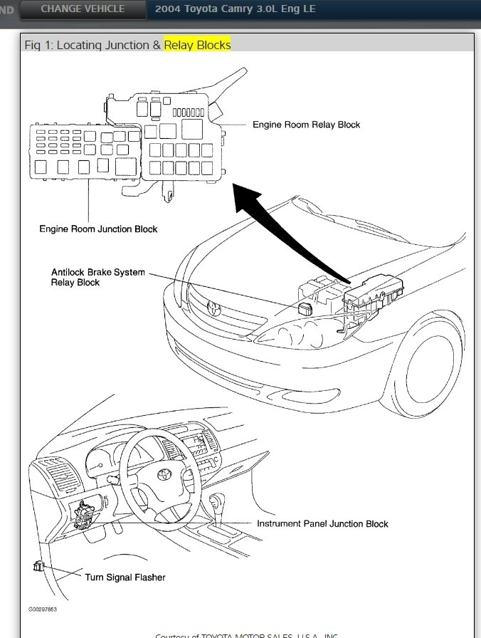 2004 camry fuse box diagram