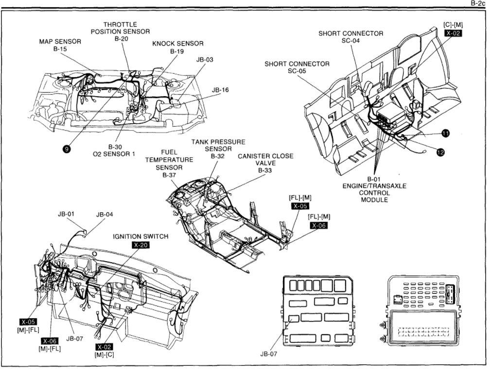 1996 kia sportage engine diagram layout