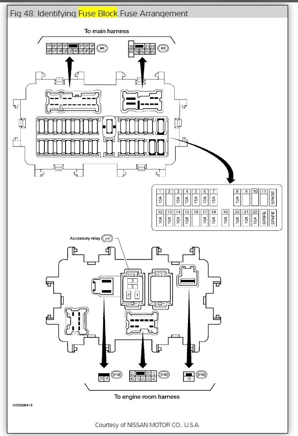 2008 Nissan Frontier Fuse Diagram Wiring Diagram