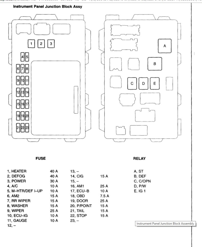 03 Toyota Corolla Fuse Diagram Wiring Diagram