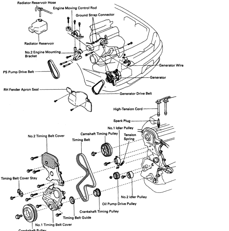 1996 toyota camry 2 timing marks