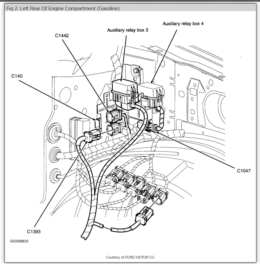 2004 f350 fuel filter location