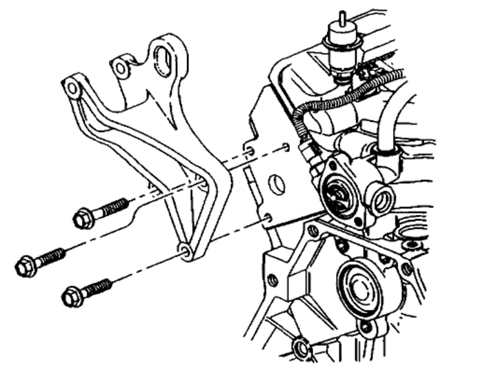 97 chevy venture Motor diagram